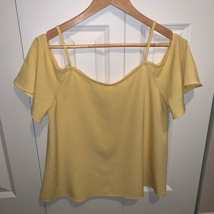 BP cold shoulder yellow top size small.